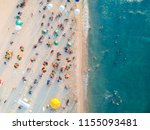 aerial view of a beach with... | Shutterstock . vector #1155093481