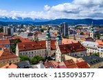 view from above over landhaus... | Shutterstock . vector #1155093577