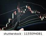 stock market graph chart. the...   Shutterstock . vector #1155094081