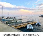 a view off the docks of the... | Shutterstock . vector #1155095677