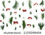 winter holidays botanical...   Shutterstock . vector #1155098404