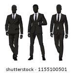business people. three men in... | Shutterstock .eps vector #1155100501