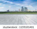 empty floor with modern... | Shutterstock . vector #1155101401