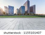 empty floor with modern... | Shutterstock . vector #1155101407