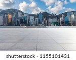 empty floor with modern... | Shutterstock . vector #1155101431