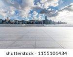 empty floor with modern... | Shutterstock . vector #1155101434