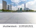 empty floor with modern... | Shutterstock . vector #1155101521