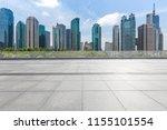 empty floor with modern... | Shutterstock . vector #1155101554