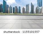 empty floor with modern... | Shutterstock . vector #1155101557