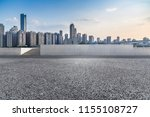 empty road with modern business ... | Shutterstock . vector #1155108727