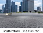 empty road with modern business ... | Shutterstock . vector #1155108754