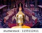 Statue Buddha Inside Ordination Hall - Fine Art prints