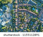 an aerial view from the drone... | Shutterstock . vector #1155112891