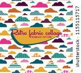 seamless vintage pattern  retro ... | Shutterstock .eps vector #1155115717