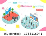 Influencer Marketing Flat...