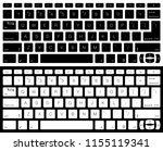 computer keyboard vector... | Shutterstock .eps vector #1155119341
