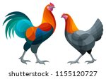 stylized chickens   brugse... | Shutterstock .eps vector #1155120727