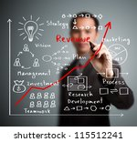 business man writing increased... | Shutterstock . vector #115512241