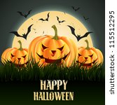 creative halloween vector... | Shutterstock .eps vector #115512295