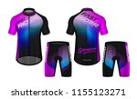 cycling jerseys mockup t shirt... | Shutterstock .eps vector #1155123271