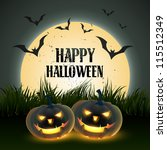 creative halloween vector... | Shutterstock .eps vector #115512349