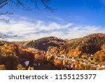 view over autumnal city of... | Shutterstock . vector #1155125377