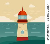 lighthouse on evening | Shutterstock .eps vector #1155126064
