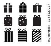 set of gift box icon on white...