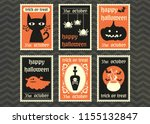 happy halloween greeting card ... | Shutterstock .eps vector #1155132847