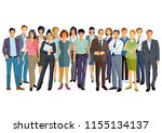 people gathering and... | Shutterstock . vector #1155134137