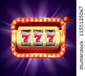 jackpot at slot machine. vector ... | Shutterstock .eps vector #1155135067