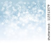 christmas snowflakes background | Shutterstock .eps vector #115513579