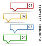 map markers with numbers ... | Shutterstock .eps vector #115513651
