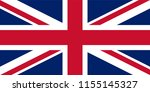 uk. union jack. flag of united... | Shutterstock .eps vector #1155145327