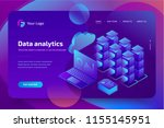 concept business analytics of... | Shutterstock .eps vector #1155145951