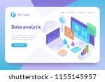 concept business analytics of... | Shutterstock .eps vector #1155145957
