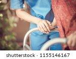 asian eldery  woman with her... | Shutterstock . vector #1155146167