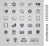 modern social media icons... | Shutterstock .eps vector #115515229