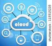 modern social media abstract... | Shutterstock .eps vector #115515235