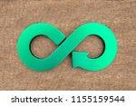 circular economy concept. green ...   Shutterstock . vector #1155159544
