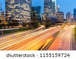los angeles downtown sunset  la ... | Shutterstock . vector #1155159724