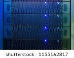 server internet datacenter room ... | Shutterstock . vector #1155162817