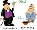 vector illustration of rich and ... | Shutterstock .eps vector #1155165094