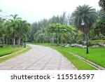 walking way in public park | Shutterstock . vector #115516597