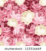 seamless pattern with pink and... | Shutterstock .eps vector #115516669