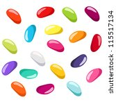 Jelly Beans Of Various Colors....