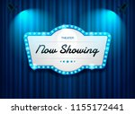 theater sign on curtain with... | Shutterstock .eps vector #1155172441