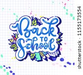 back to school lettering with... | Shutterstock .eps vector #1155173554