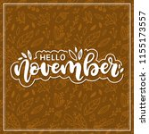 hello november. autumn... | Shutterstock .eps vector #1155173557