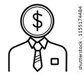 banker icon vector   Shutterstock .eps vector #1155174484
